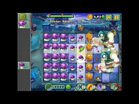 Plants vs. Zombies 2 - DARK AGES Night 10! Be the master!