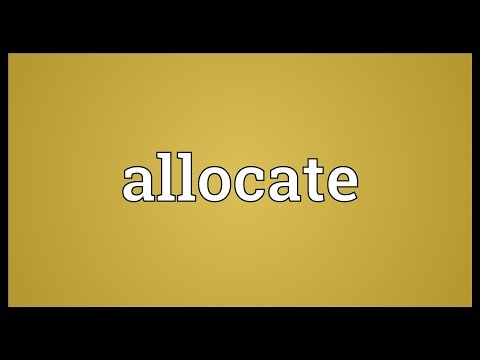 Header of allocate