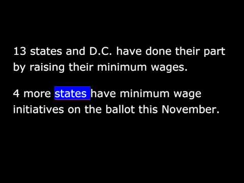 President Obama -  Weekly Address - August 30th, 2014 - Labor Day Talk - Minimum Wage