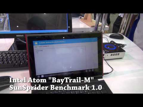 [COMPUTEX 2013] Intel BayTrail-M SunSpider Benchmark