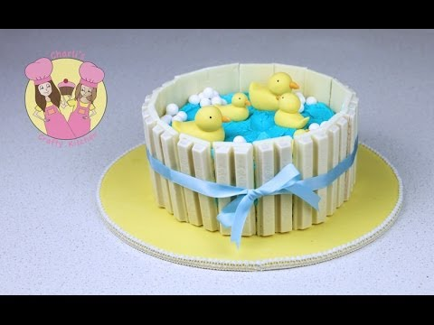 Yellow Duck Baby Shower Cake