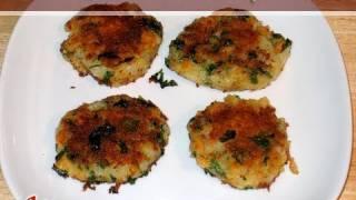 Chola Tikki (Chickpeas Patties) Recipe by Manjula, Indian Vegetarian Cooking