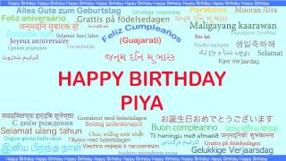 Piya   Languages Idiomas - Happy Birthday
