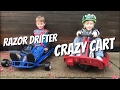 Razor Crazy Cart and Razor Drifter.Electric ride on cars for kids 2017.