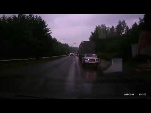 Авария на трассе М5 13.07.2013