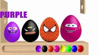 Learn Colors Children's favorite super hero Kids Nursery Rhymes Song