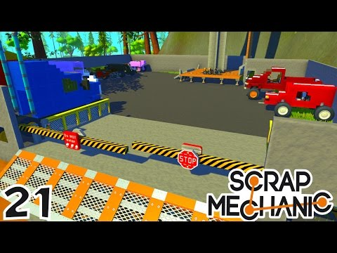CONSTRUCTION D'UN IMMENSE GARAGE ! | Scrap Mechanic ! #Ep21