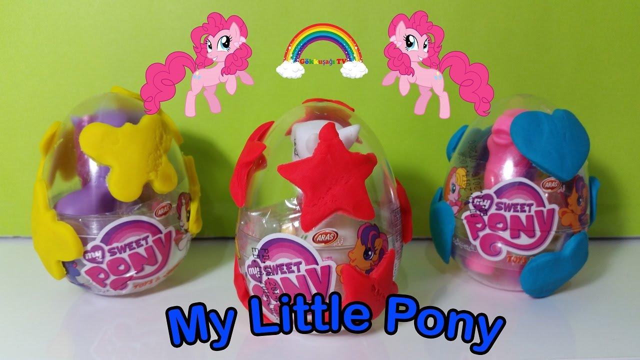 My little pony sevimli oyuncaklar 3 adet oyun hamuru kapl s rpriz yumurta a m youtube for Little pony watches