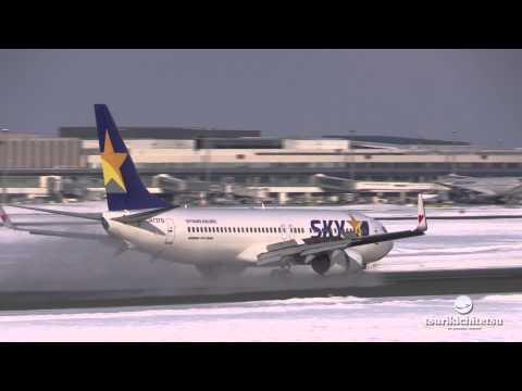Skymark Airlines Boeing 737-800 Landing@新千歳空港