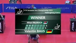 2019 European Para Table Tennis Championships Day 3 Table 1