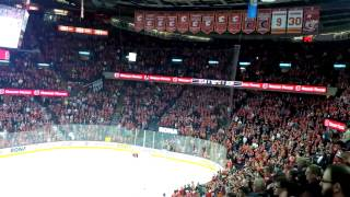 Miikka Kiprusoff standing ovation in his last NHL game.