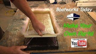 Making A New Fiberglass Hatch From A Mold