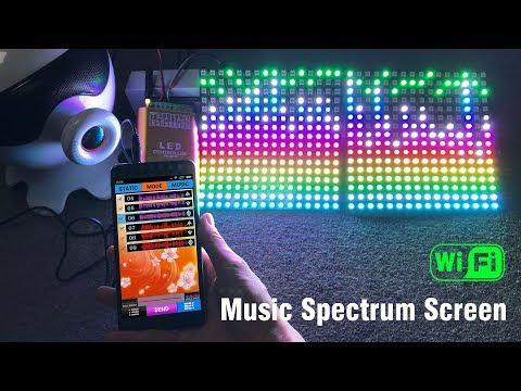 LED WiFi Music Spectrum Pixel Display Panels - WS2812B