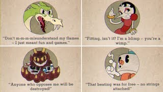 Cuphead | All Boss Quotes & Game Over Screens