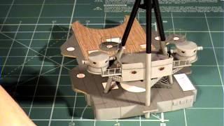Videorelacja z budowy krążownika ZARA 1:200 ep05. Paper model of the cruiser ZARA tutorial