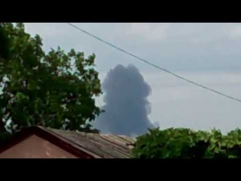 Video of Malaysian passenger airliner MH17 crash near Russia-Ukraine border [7/17/14]