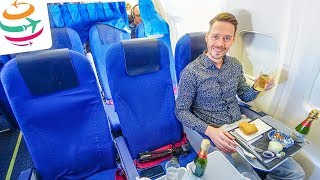 KLM 737-700 Business Class Tripreport | GlobalTraveler.TV