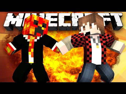 Minecraft: AIRBORNE PVP! (EPIC CREEPER BATTLE!) - w/Preston & Friends