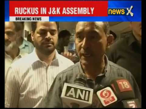 Ruckus in Jammu and Kashmir Assembly