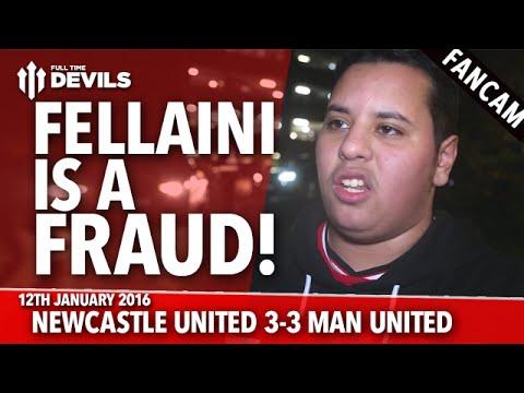 Newcastle United 3-3 Manchester United | Fellaini is a Fraud! | FANCAM