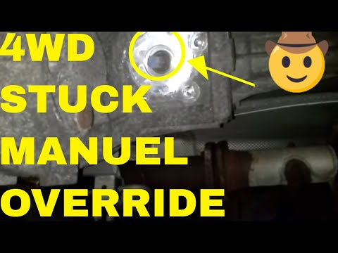 How To Override Stuck 4WD On A GMC Vehicle. Transfer Case Control Module Remove and Replace