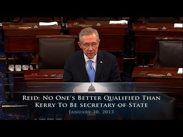 Reid: No One's Better Qualified Than Kerry To Become Secretary Of State