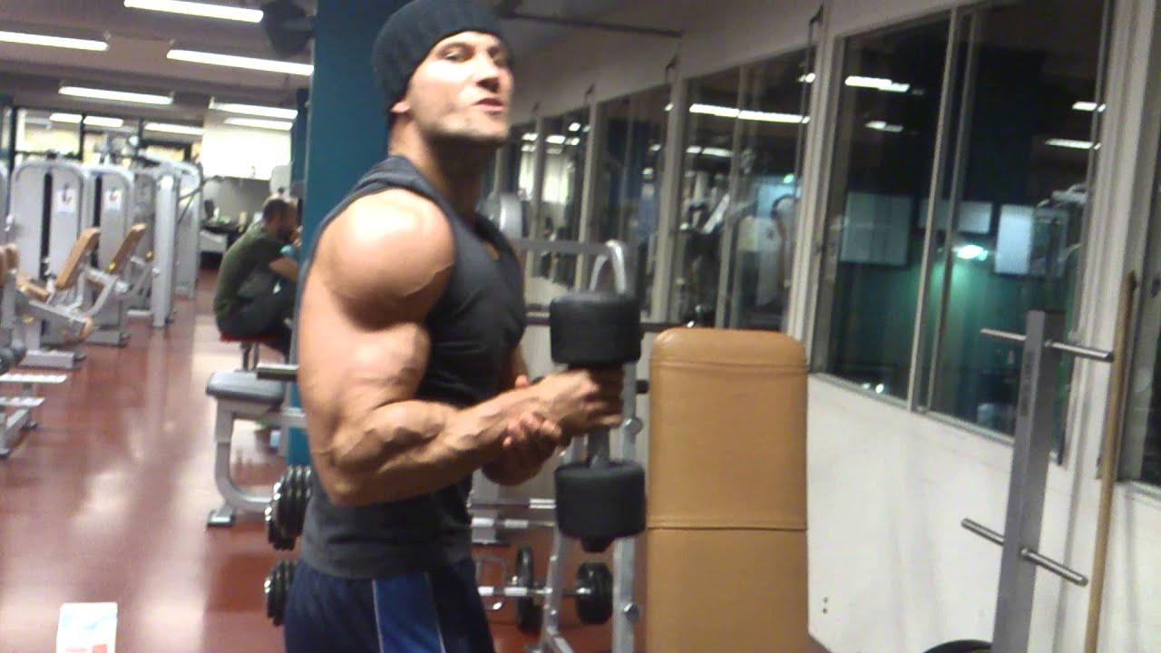 Top muscle model ruben baars in the gym youtube