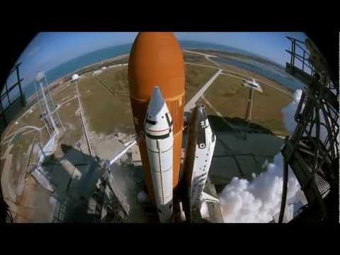Space Shuttle Launch From Multiple Views HD