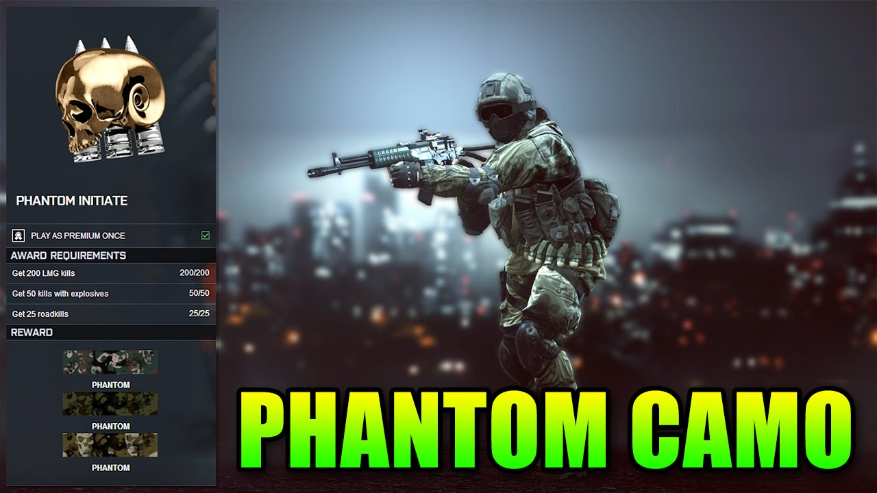 Bf4 Soldier Camos Bf4 Phantom Initiate Camo How