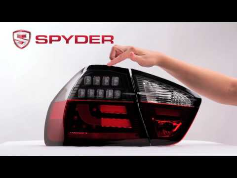 Spyder Auto Product Showcase: 2006-2008 BMW E90 3-Series 4Dr Light Bar LED Tail Light
