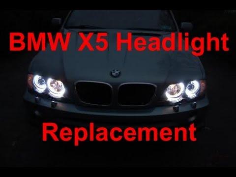 How To Replace Bmw X5 Headlight Bulbs Youtube