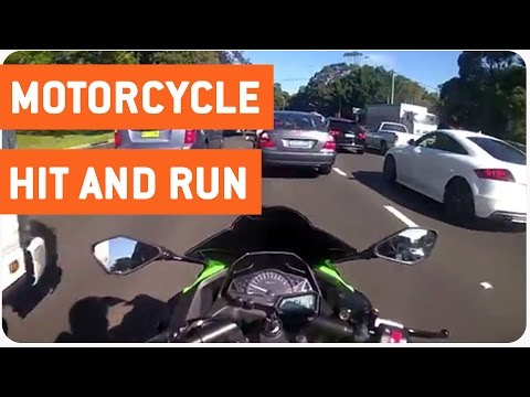 Hit and Run On Ninja 300 Motorcycle | A**hole Drivers