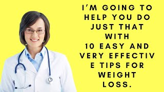 10 easy and very effective tips for weight loss