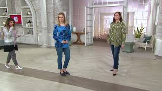Susan Graver High-Stretch Denim Straight-Leg Ankle Jeans on QVC