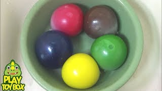StressBall Color Paints Balloons with Surprise Egg Toys  Learn Colors