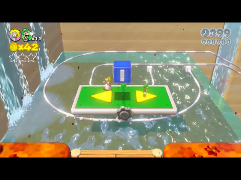 Super Mario 3D World Co-Op - Part 7 - First frustrations [World 3] (WiiU)
