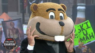 Lee Corso's headgear pick for Wisconsin vs. Minnesota with Eric Decker | College GameDay