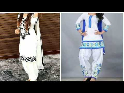 White Punjabi Suits #Latest White Punjabi Suit Designs #Beautiful white punajbi suit designs 2018