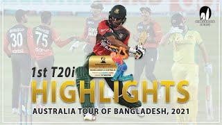 Bangladesh vs Australia Highlights    1st T20i    Australia tour of Bangladesh 2021