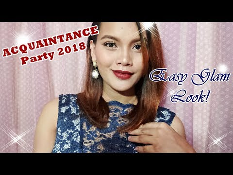 Easy Makeup for Acquaintance Party/ Glam Look