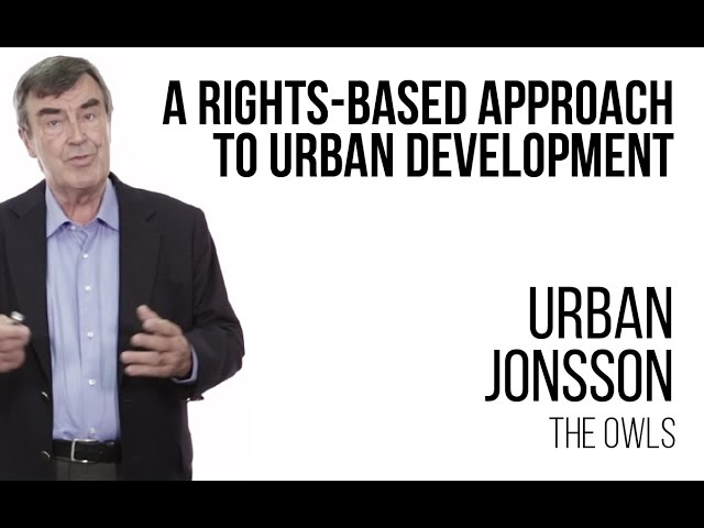 Urban Jonsson - A rights-based approach to urban development