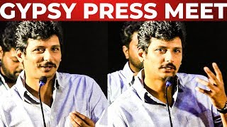 "Padam Full Ah Enkuda ""Che"" Nu Oru Kuthirai Varum – Actor Jiiva Fun Speech At Gypsy Press Meet !!"