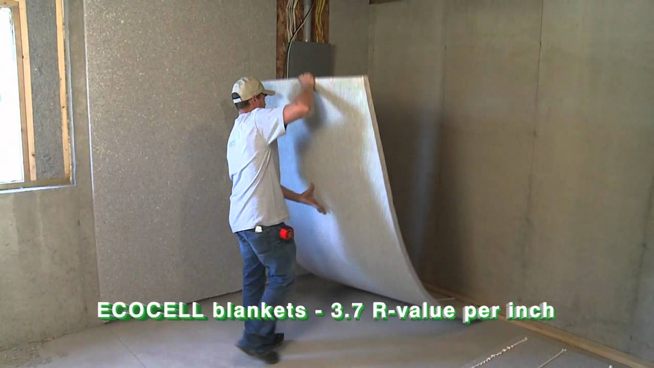 Ecocell batt and blanket insulation homeowners youtube for Blanket insulation basement walls