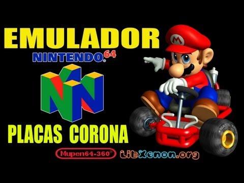 Como instalar Emulador de Nintendo 64 •[ mupen64-360_v0.993_beta2 ]• Para RGH • (PLACAS CORONAS )