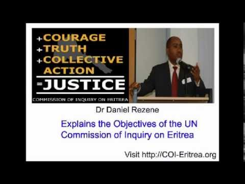 Dr Daniel Rezene explains the objectives of the UN Commission of Inquiry on Eritrea