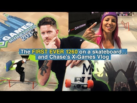 The FIRST EVER 1260 On A Skateboard... And Chase's X-Games Vlog