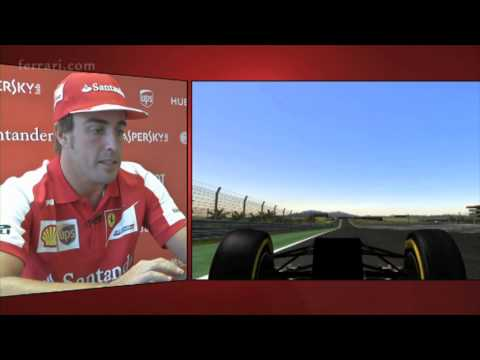 Ferrari: Giro di pista virtuale Buddh International Circuit con Fernando Alonso