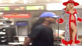 Dude walks behind counter and gets his own fries at McDonalds