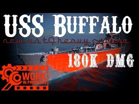 USS BUFFALO 180K DMG (WIP) World of Warships