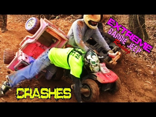 EXTREME BARBIE JEEP RACING CRASHES